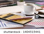accounting. items for doing... | Shutterstock . vector #1404515441