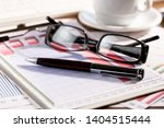 accounting. items for doing... | Shutterstock . vector #1404515444