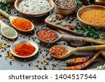 spices and seasonings for... | Shutterstock . vector #1404517544
