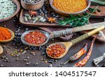 spices and seasonings for... | Shutterstock . vector #1404517547