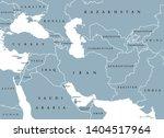 southwest asia  political map... | Shutterstock .eps vector #1404517964