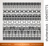 vintage borders set  seamless... | Shutterstock .eps vector #140455771