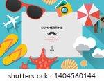 summertime traveling template... | Shutterstock .eps vector #1404560144