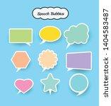 speech bubbles set  vector... | Shutterstock .eps vector #1404583487