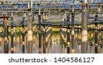 solar photovoltaic panel cement ... | Shutterstock . vector #1404586127