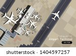 a top aerial view of an airport ... | Shutterstock .eps vector #1404597257