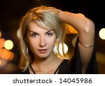 beautiful young woman in a city ... | Shutterstock . vector #14045986