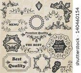vector floral design elements ... | Shutterstock .eps vector #140460154