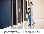a side view of businesswoman... | Shutterstock . vector #1404610151
