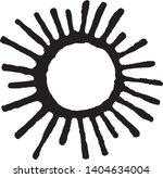 vector sun symbol in engraving... | Shutterstock .eps vector #1404634004