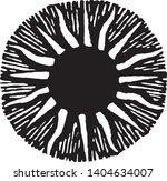 vector sun symbol in engraving... | Shutterstock .eps vector #1404634007