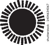 vector sun symbol in engraving... | Shutterstock .eps vector #1404634067