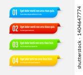 gradient infographics banners.... | Shutterstock .eps vector #1404647774