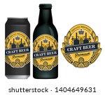 vector label for craft beer in...   Shutterstock .eps vector #1404649631