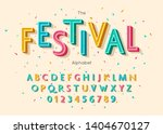 festival font and alphabet.... | Shutterstock .eps vector #1404670127