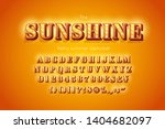 stylized 3d vector font and... | Shutterstock .eps vector #1404682097