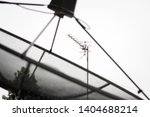 satellite tv receiver and... | Shutterstock . vector #1404688214