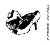 Womens Fancy Shoe Hand Drawn Images