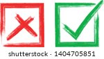 check and cross sign elements.... | Shutterstock .eps vector #1404705851