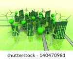 windmill powered urban area... | Shutterstock . vector #140470981