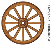 old wooden wheel | Shutterstock .eps vector #140471059