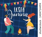 festa junina  sao joao holiday. ... | Shutterstock .eps vector #1404714494