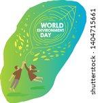 world environment day concept.... | Shutterstock .eps vector #1404715661