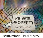 Private Property Sign. Vivid...