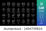 car outline icon set on a black ... | Shutterstock .eps vector #1404739814