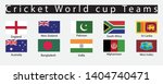 cricket world cup teams flags   Shutterstock .eps vector #1404740471