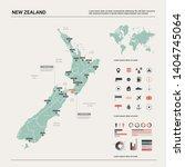vector map of  new zealand.... | Shutterstock .eps vector #1404745064