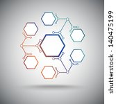 six compounds with the basic... | Shutterstock .eps vector #140475199