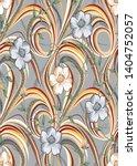 design wave flower abstract... | Shutterstock .eps vector #1404752057