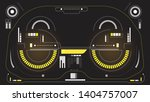 hud display interface elements... | Shutterstock .eps vector #1404757007