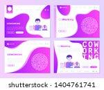 man in coworking office web... | Shutterstock .eps vector #1404761741