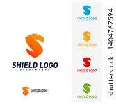initial s shield logo design... | Shutterstock .eps vector #1404767594