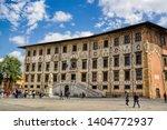 Piazza dei Cavalieri with the eponymous palazzo in pisa, italy