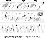 vector abstract horizontal...   Shutterstock .eps vector #140477761