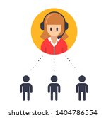 support girl. round bubble icon.... | Shutterstock . vector #1404786554