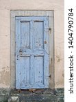 Architecture  Old Blue Wooden...