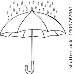 Isolated Sketched Umbrella....