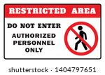 restricted area sign  do not...   Shutterstock .eps vector #1404797651