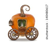 Pumpkin Carriage Isolated On...
