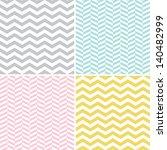 Seamless Zigzag (Chevron) Patterns | Shutterstock vector #140482999