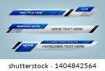 set of broadcast news lower... | Shutterstock .eps vector #1404842564