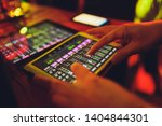 studio working with sound and... | Shutterstock . vector #1404844301
