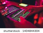 studio working with sound and... | Shutterstock . vector #1404844304