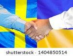 business handshake on the... | Shutterstock . vector #1404850514