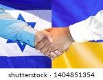 business handshake on the... | Shutterstock . vector #1404851354