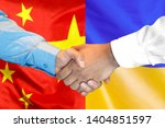 business handshake on the... | Shutterstock . vector #1404851597